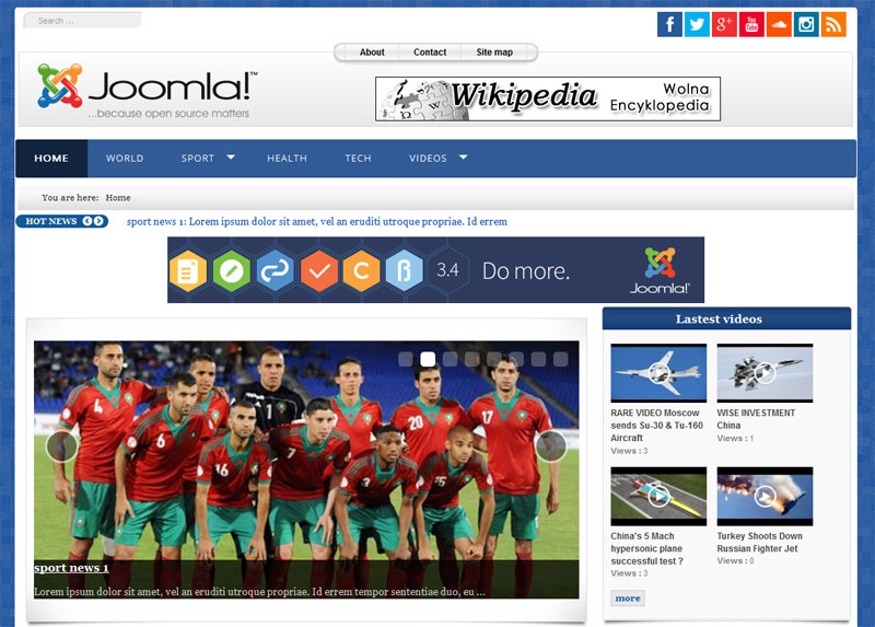 template portal3 joomla 3 x for news and magazine portal